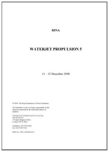 9781905040506: Waterjet Propulsion 5
