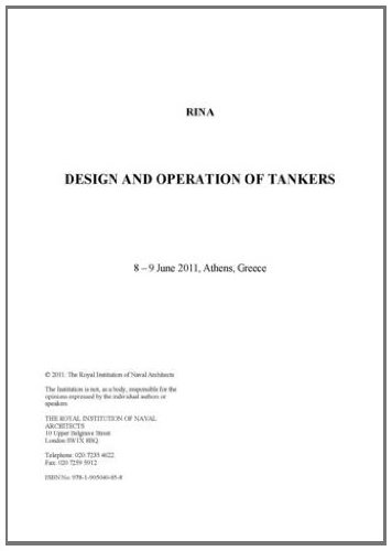 9781905040858: Design & Operation of Tankers 2011