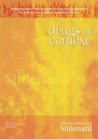 9781905064441: Sildenafil: Erectile Dysfunction (Drugs in Context)
