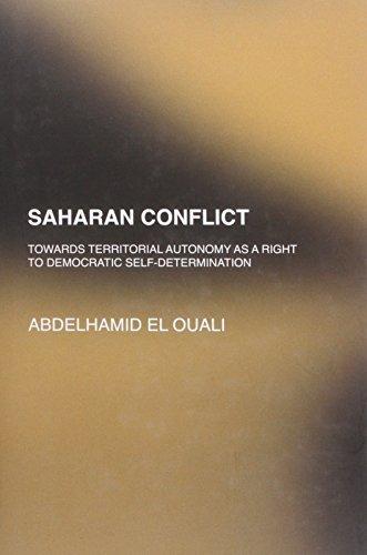 9781905299874: Saharan Conflict: Towards Territorial Autonomy as a Right to Democratic Self Determination
