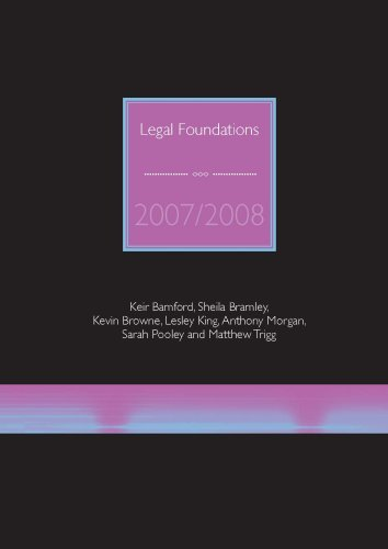 9781905391370: Legal Foundations