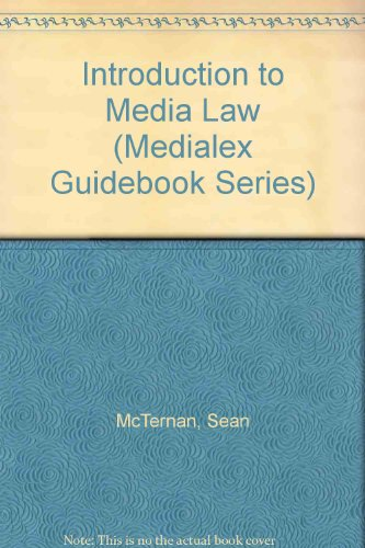 9781905394005: Introduction to Media Law (Medialex Guidebook Series)