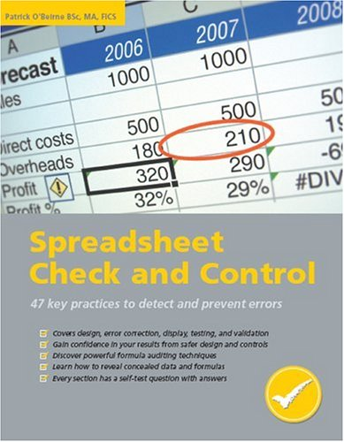 9781905404001: Spreadsheet Check and Control: 47 Key Practices to Detect and Prevent Errors