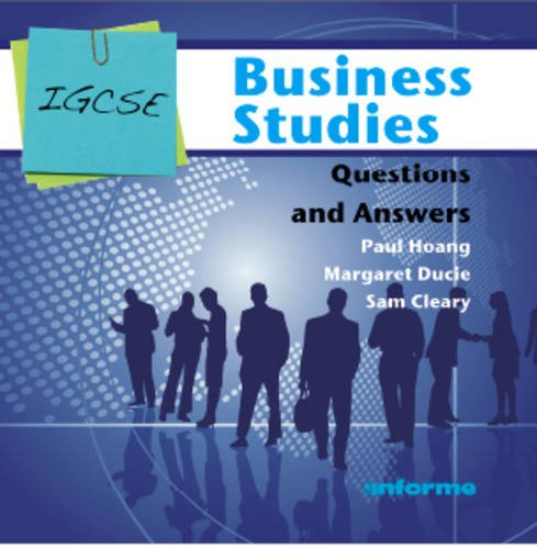 paul hoang answers This is the third edition of paul hoangs bestselling textbook, covering the new ib diploma specifications in business management (first exams may 2016) in a critical and holistic way.