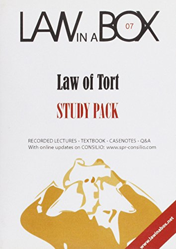 9781905507061: Tort Law in a Box: Study Pack