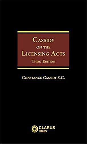 9781905536337: Cassidy on the Licensing Acts: Third Edition