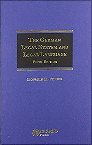 9781905536511: The German Legal System and Legal Language: Fifth Edition