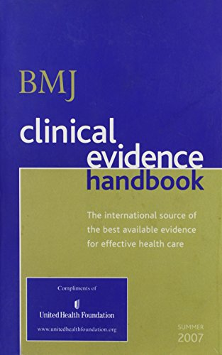 9781905545155: bmj clinical evidence handbook (the international source of the best available evidence for effectiv