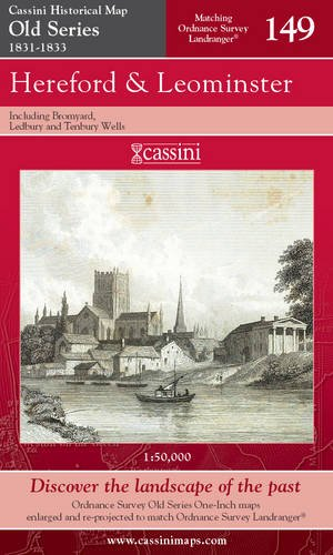 Hereford and Leominster (Cassini Old Series Historical Map)