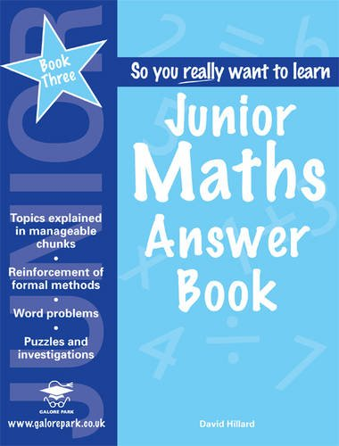 9781905735297: Junior Maths: Answer Book Book 3