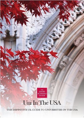 9781905735846: Uni in the USA: The Definitive UK Guide to the Universities in the USA (Good Schools Guide)