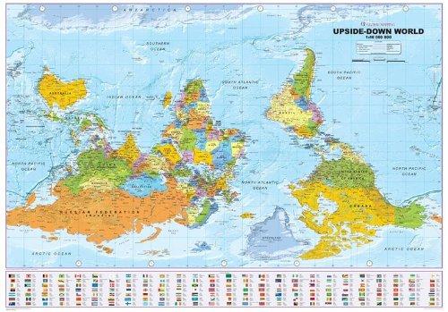 9781905755271: Upside Down World Political Wall Map: Medium 1:40,000,000