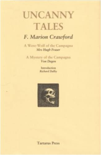 Uncanny Tales: Crawford, F. Marion.
