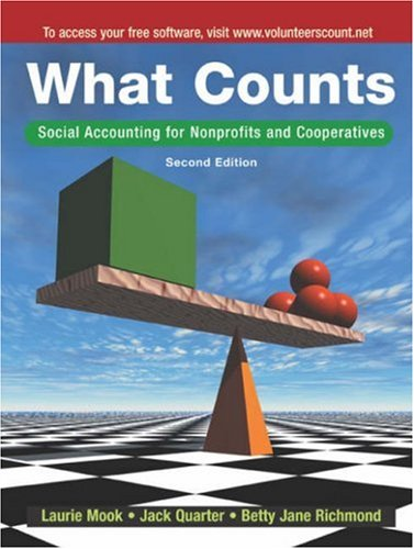 What Counts: Social Accounting for Nonprofits and Cooperatives, 2nd Edition: Laurie Mook