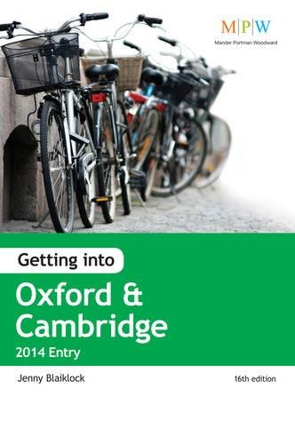 Getting into Oxford & Cambridge 2014 Entry: Blaiklock, Jenny