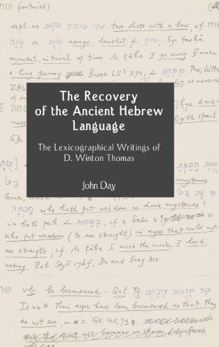 The Recovery of the Ancient Hebrew Language: Day, John