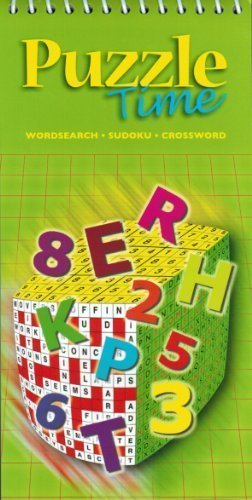 Puzzle Time - Wordsearch - Sudoku - Crossword - Green Cover Version: BK Books