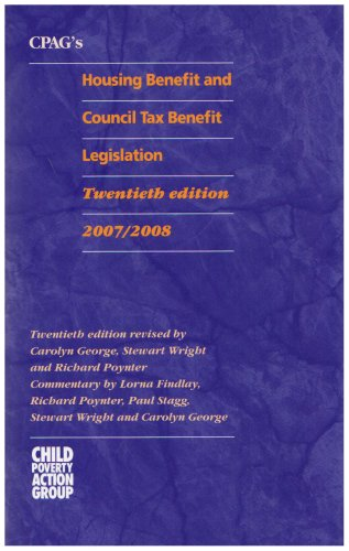CPAG's Housing Benefit and Council Tax Benefit Legislation (9781906076078) by Stewart Wright Carolyn George Lorna Findlay