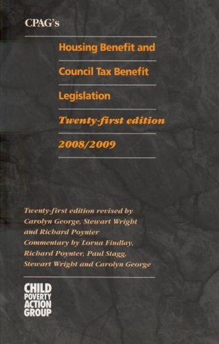 CPAG's Housing Benefit and Council Tax Benefit Legislation 2008/2009