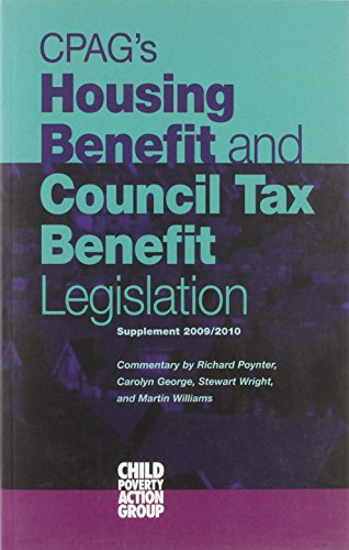 CPAG's Housing Benefit and Council Tax Benefit Legislation 2010/2011: Supplement (9781906076429) by [???]