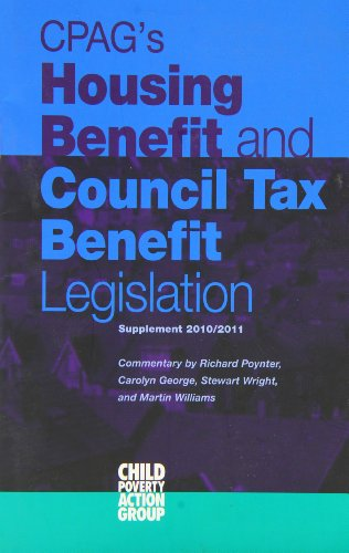 CPAG's Housing Benefit and Council Tax Benefit Legislation 2010/2011: Supplement (9781906076504) by [???]