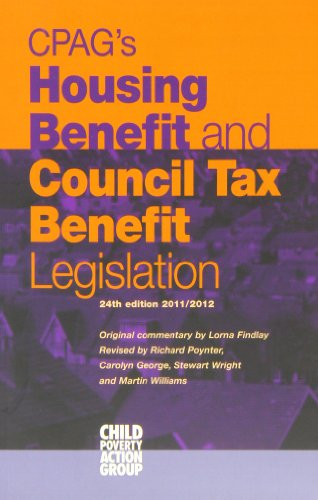 Cpag's Housing Benefit and Council Tax Benefit Legislation: Findlay, Lorna