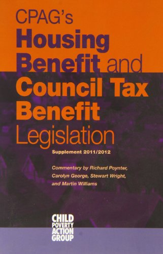 Cpag's Housing Benefit and Council Tax Benefit Legislation: Supplement 2011 (9781906076573) by Lorna Findlay