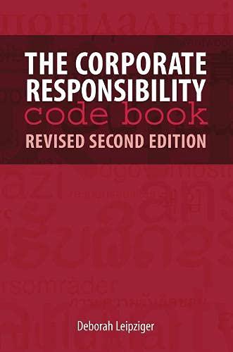 Corporate Responsibility Code Book (Hardback): Deborah Leipziger