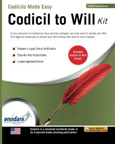 9781906144326: Codicil to Will Kit