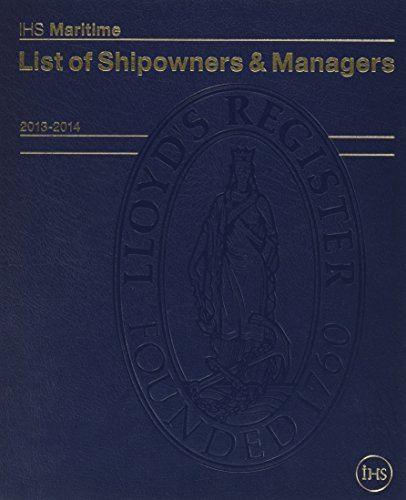 List of Shipowners and Managers 2013-2014: Lloyd's Reg Ship