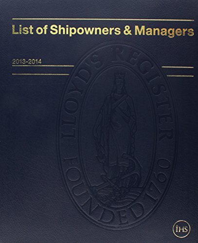 List of Shipowners & Managers 9781906313746