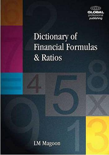 9781906403034: Dictionary of Financial Formulas and Ratios