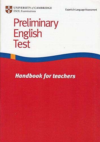 9781906438111: Preliminary English Test Handbook for teachers