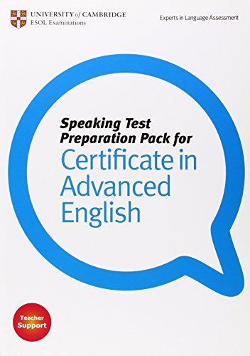 9781906438395: Speaking Test Preparation Pack for CAE Paperback with DVD