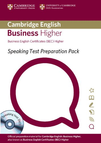 9781906438616: Speaking Test Preparation Pack for BEC Higher Paperback with DVD