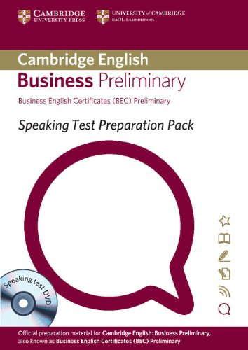 9781906438630: Speaking Test Preparation Pack for BEC Preliminary Paperback with DVD