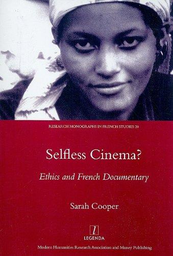 Selfless Cinema? (Research Monographs in French Studies): Sarah Cooper