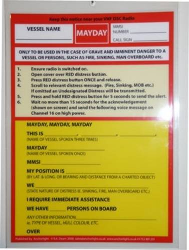 9781906594015: VHF DSC Mayday Procedure Card (Cockpit Cards)