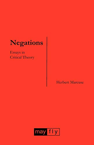 9781906948047: Negations: Essays in Critical Theory