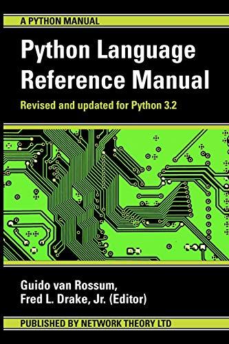9781906966140: The Python Language Reference Manual (Python Manual)