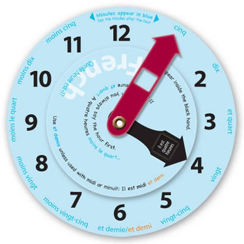 9781907041150: Learn to Tell the Time in French: Language Clock (French Edition)