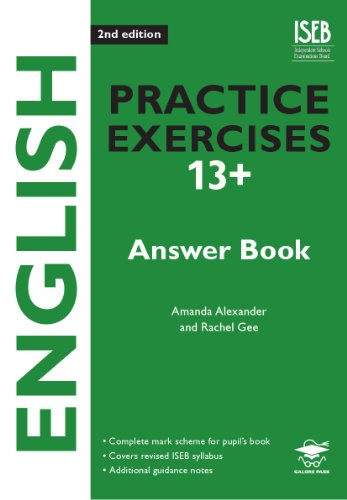 English Practice Exercises 13+ Answer Book 2nd: Gee, Rachel, Alexander,