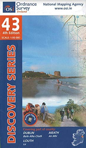 9781907122149: Discovery Map 43 Dublin, Louth, Meath (Irish Discovery Series)