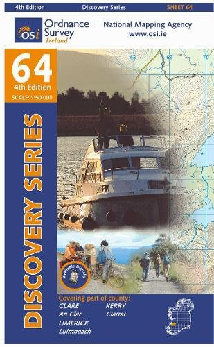 Clare, Kerry, Limerick (Irish Discovery Series): Ordnance Survey Ireland