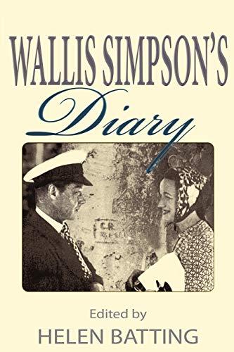 9781907172922: Wallis Simpson's Diary