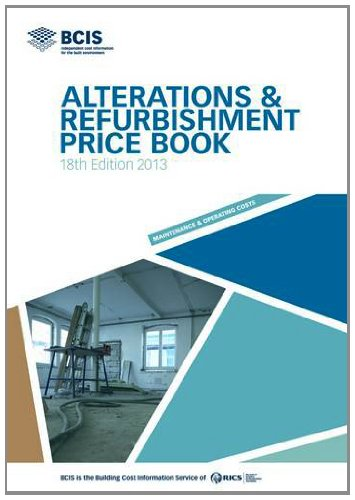 9781907196324: BCIS Alterations and Refurbishment Price Book 2013
