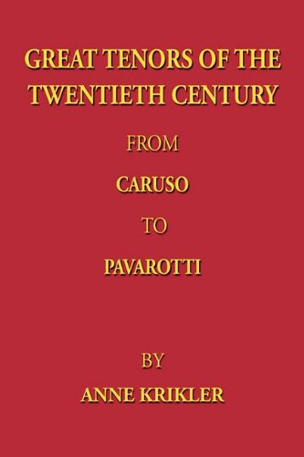 9781907211843: Great Tenors of the Twentieth Century from Caruso to Pavarotti