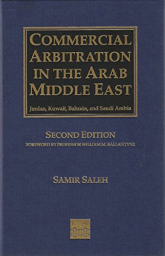 9781907229138: Commercial Arbitration in the Arab Middle East