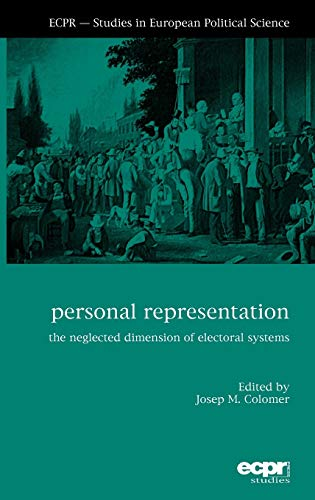 9781907301162: Personal Representation: The Neglected Dimension of Electoral Systems (ECPR Studies in European Politics)