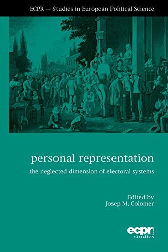 9781907301575: Personal Representation: The Neglected Dimension of Electoral Systems (ECPR Studies in European Politics)